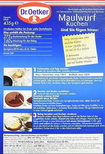 Dr Oetker Maulwurfkuchen 4er Pack 4 X 435 G Amazon De