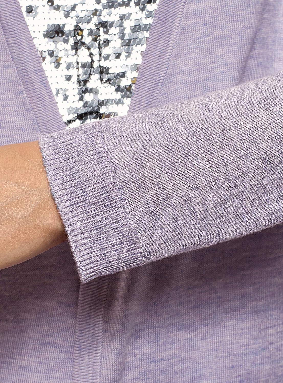 oodji Ultra Femme Cardigan en Tricot sans Fermeture
