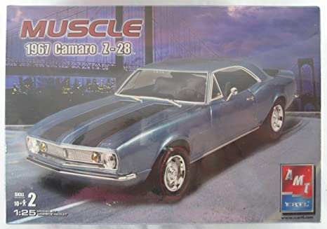 Amazon Com Amt Muscle 1967 Chevrolet Camaro Z 28 Car Model Kit 1 25