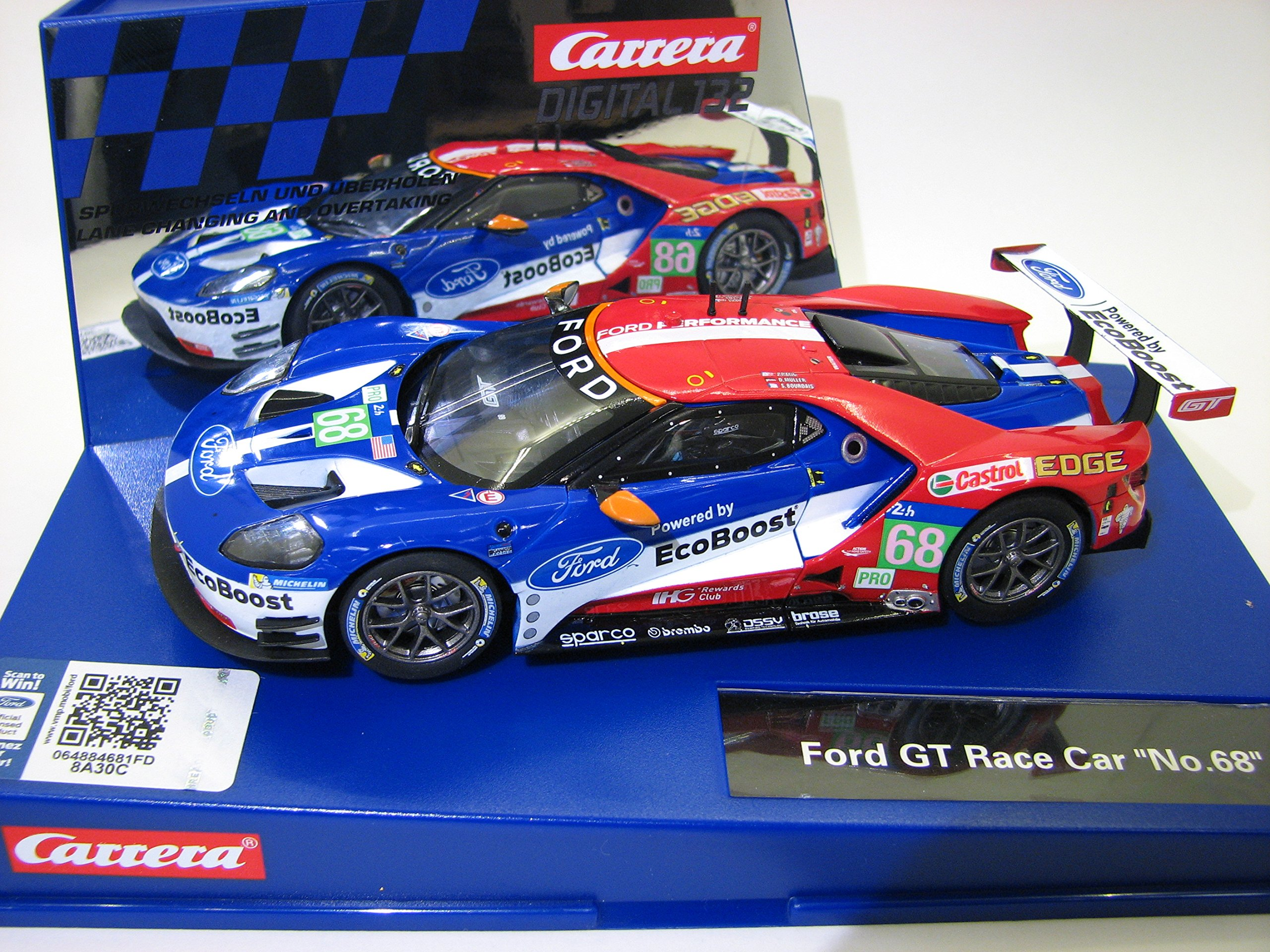 Carrera 30771 Digital 132 Slot Car Racing Vehicle - Ford GT Race Car No. 68 - (1:32 Scale) by Carrera (Image #1)