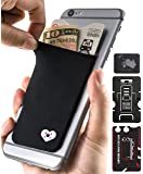 Phone Wallet - Adhesive Card Holder - Cell Phone Pouch - Stick on Lycra Pocket by Gecko - Carry Credit Cards and Cash - RFID Protection Sleeve – Korea Heart