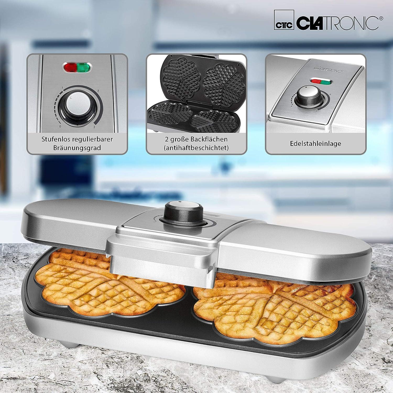 Clatronic WA 3607 Máquina para hacer gofres en forma de ...