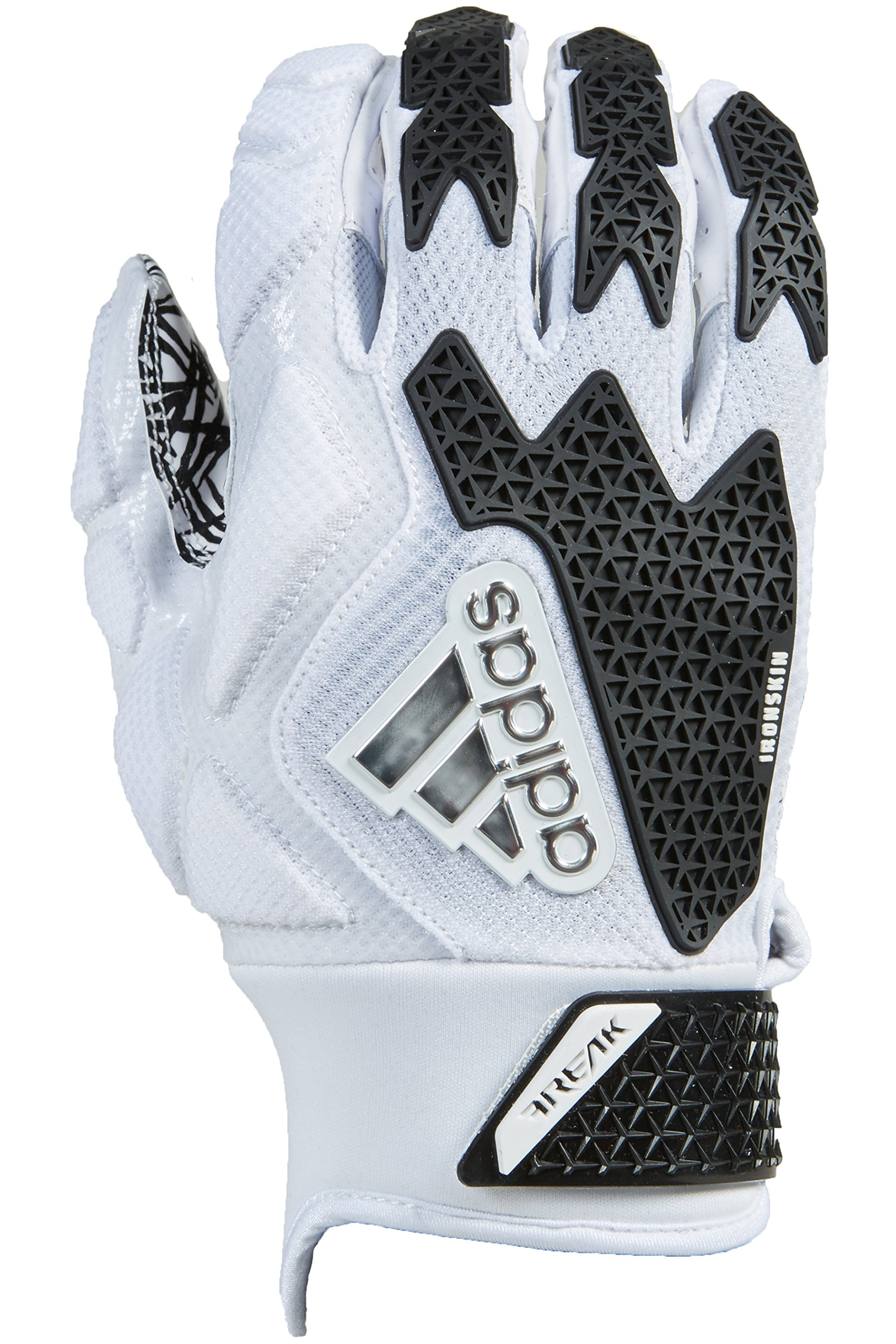 adidas Freak 3.0 Padded Receiver's Gloves, White/Black, 3X-Large