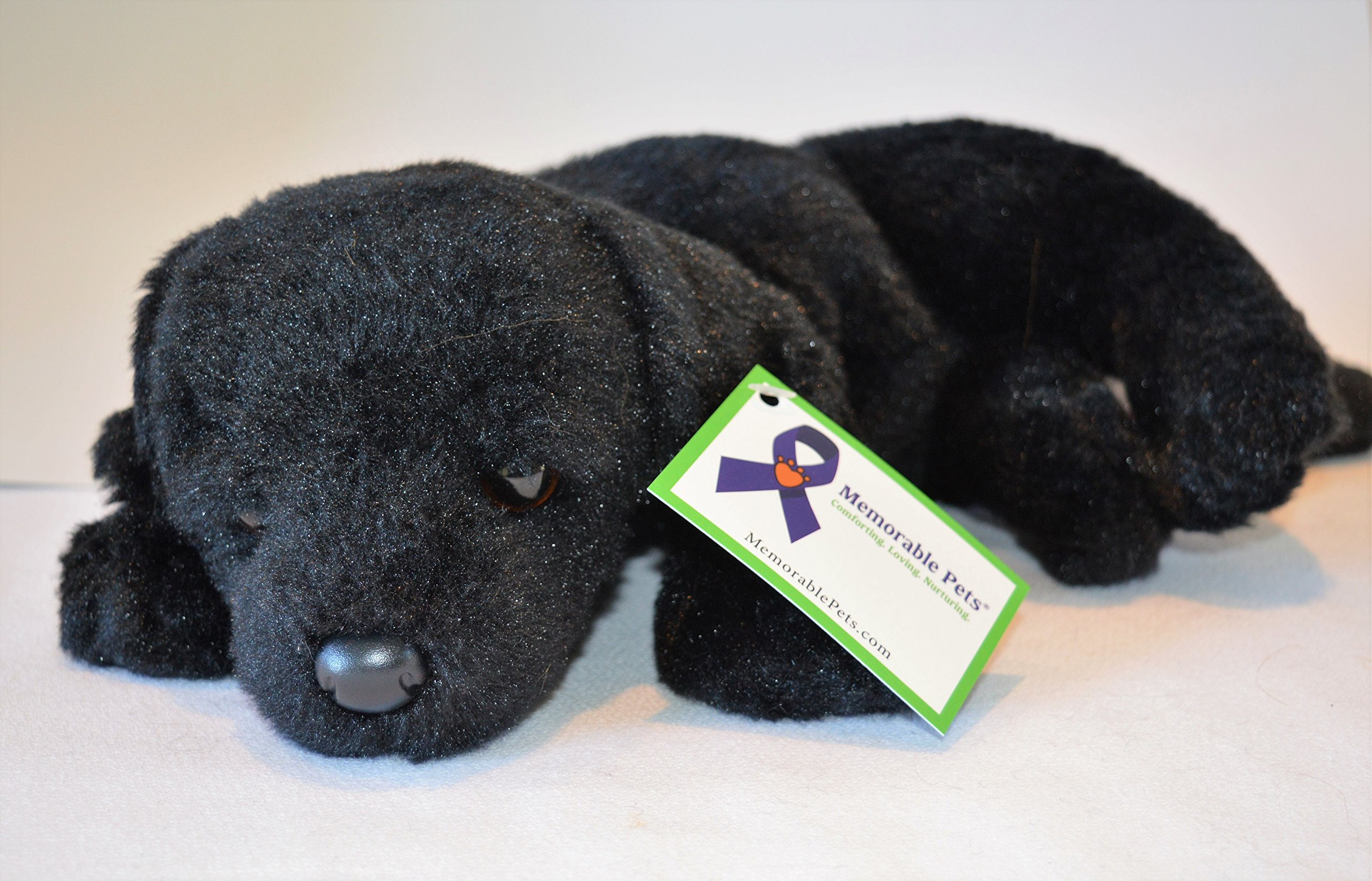 Reclining Black Lab Puppy - Stuffed Animal Therapy for People with Memory Loss from Aging and Caregivers by Memorable Pets