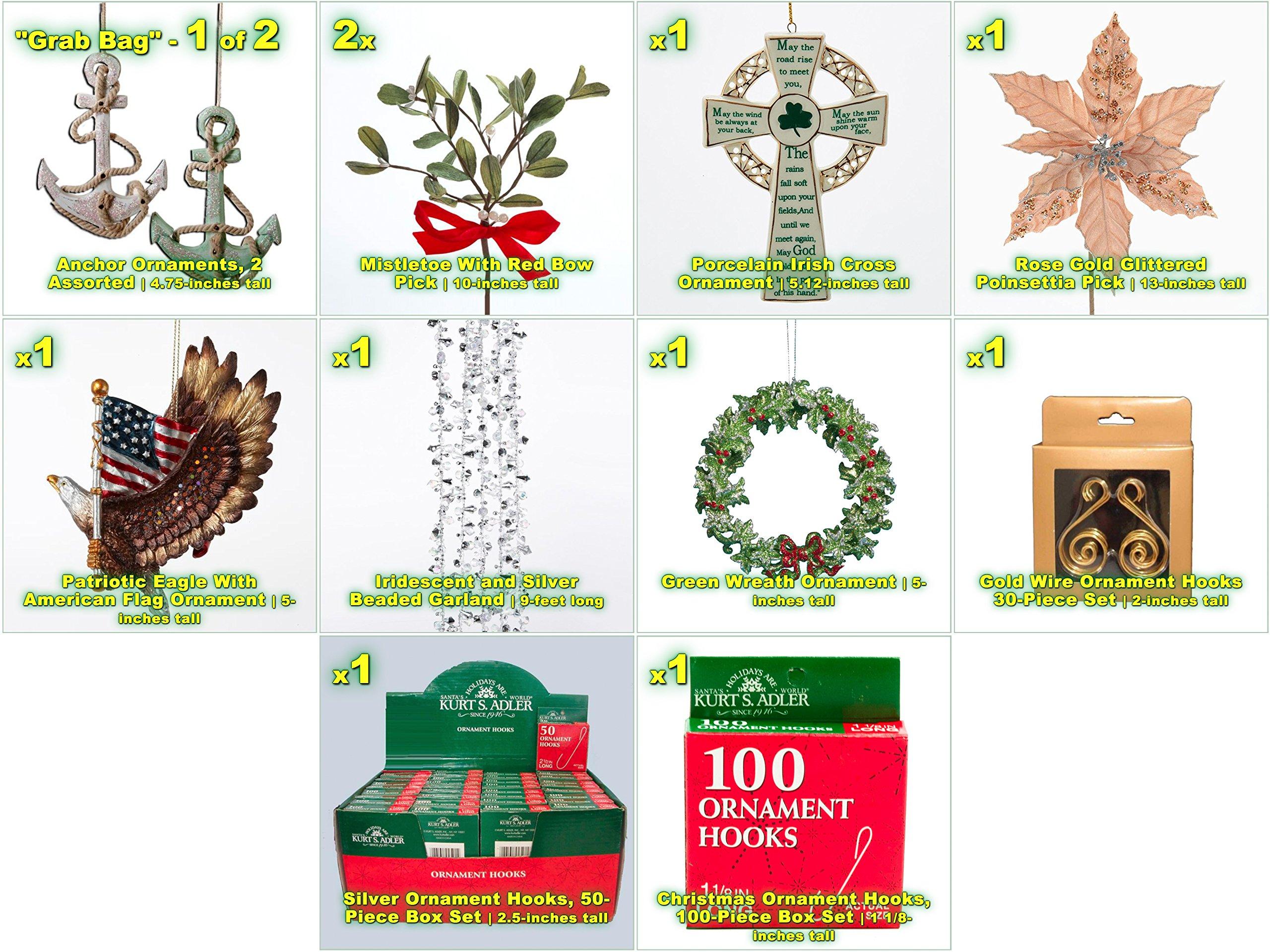 JZ Bundles Starter Set - Best of Christmas Option C - Kurt Adler - 37-Piece Bundle - A Bundle of Christmas Ornaments Great Gift by JZ Bundles (Image #3)