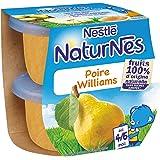 Nestlé Bébé Naturnes Poire Williams - Compote dès 4 - 6 Mois - 2 x 115g - Lot de 4