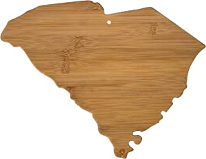 Totally Bamboo 20-7982SC South Carolina State Shaped Bamboo Serving & Cutting Board