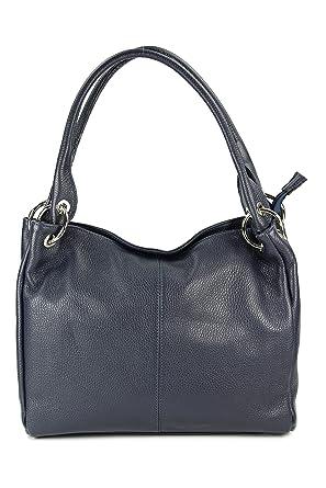6ef26f3ce6988 Leder Schultertasche Damentasche Handtasche Shopper Lilly - Farbauswahl -  33x28x14 cm (B