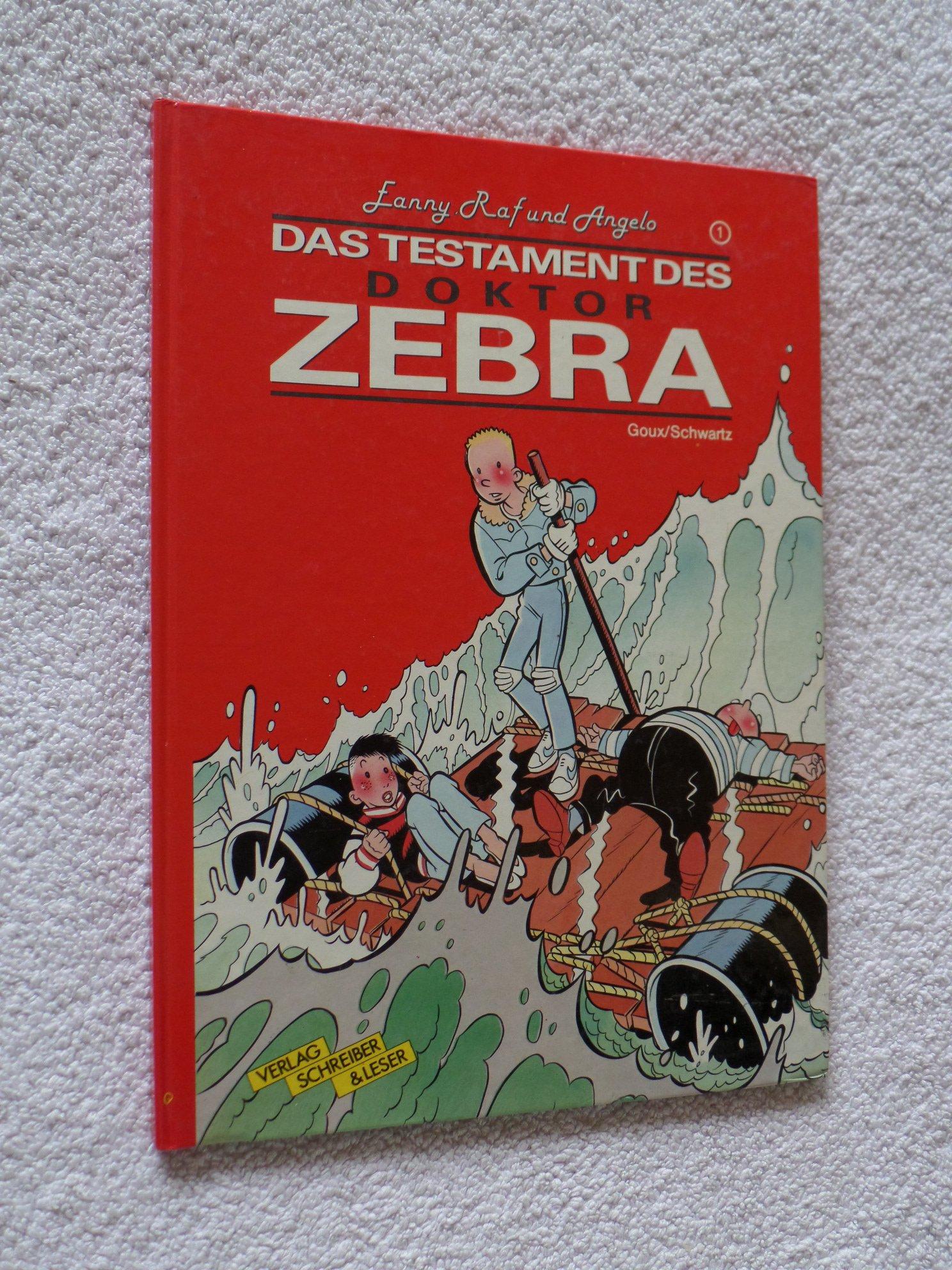 Fanny, Raf und Angelo. Das Testament des Doktor Zebra. Band 1.