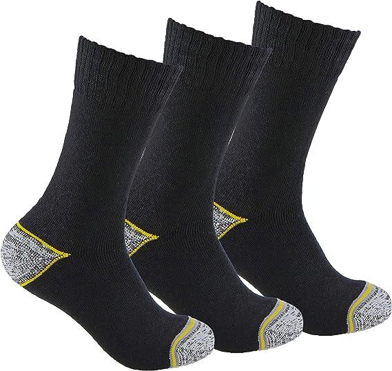 3 pares Con goma ANTI-PRESION y tal/ón y puntera reforzados ideales para botas de trabajo o calzado de seguridad Tambi/én son id/óneos para deportes de invierno. Calcetines de TRABAJO