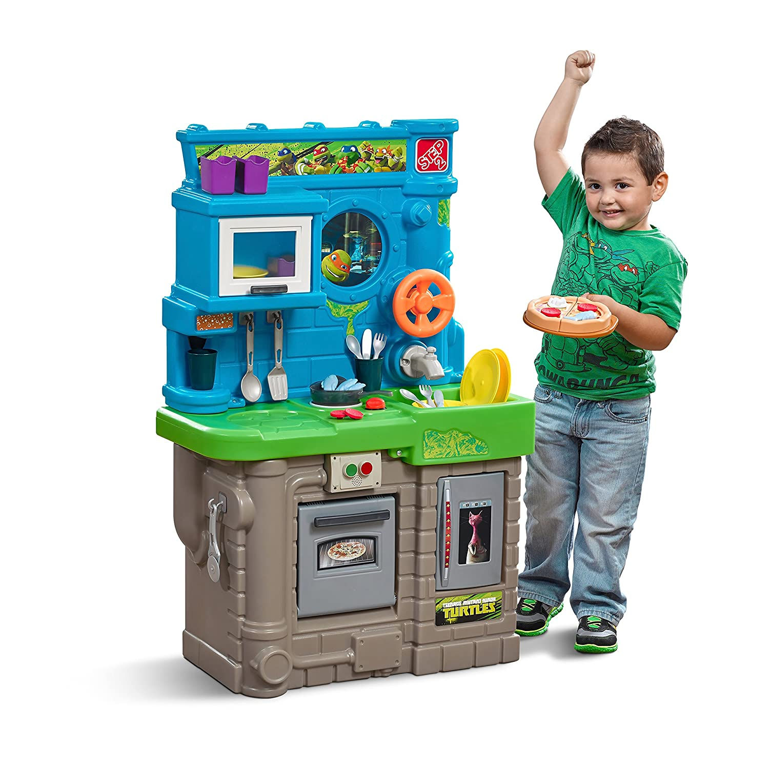 Amazon.com: Step2 Teenage Mutant Ninja Turtles Pizza Kitchen Playset ...