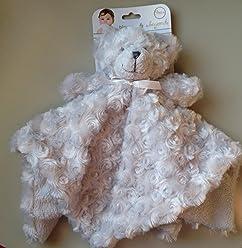 fb4049eb6d Blankets   Beyond Gray Rosette Bear Security Blanket