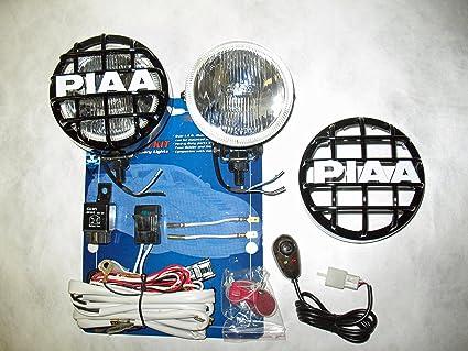 amazon com piaa 510 xtra super white driving lamp 4 round kit with rh amazon com PIAA 510 Fog Light Wiring Schematic 3-Way Switch Wiring Diagram