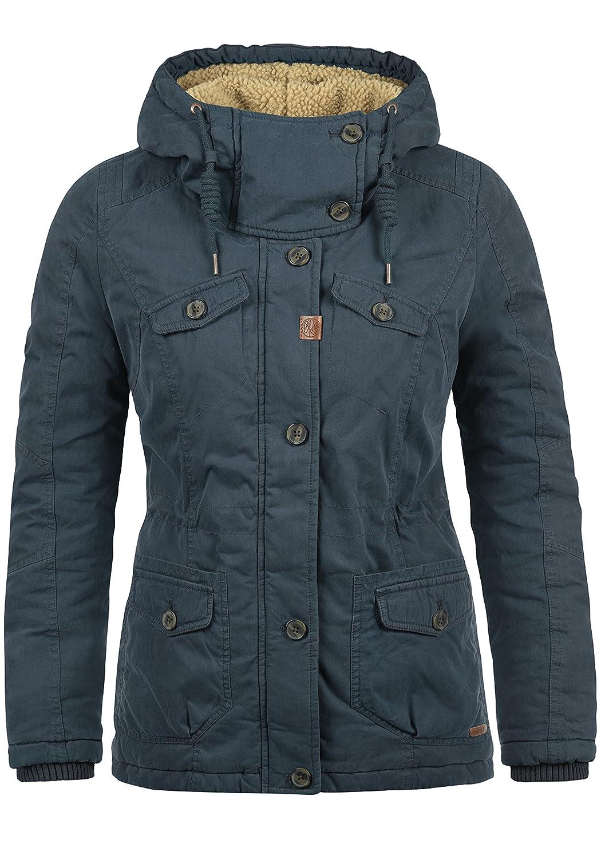 Desires Lewana Women's Winter Jacket Outdoor Jacket Teddy Fleece Hood