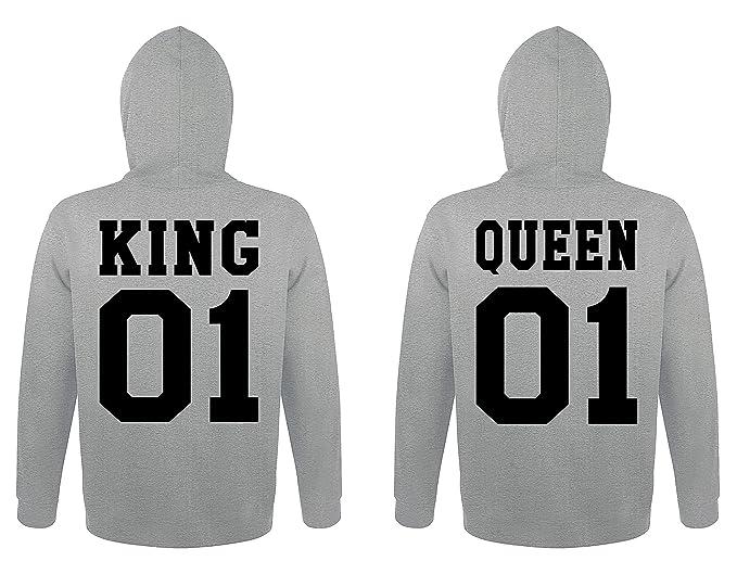 TRVPPY 2X Pareja Suéter Sudadera con Capucha/Modelo King & Queen/Hombre XXL,