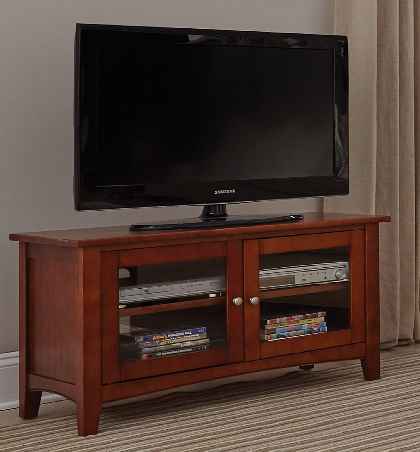 Alaterre Shaker Cottage TV Stand, 36-Inch, Cherry