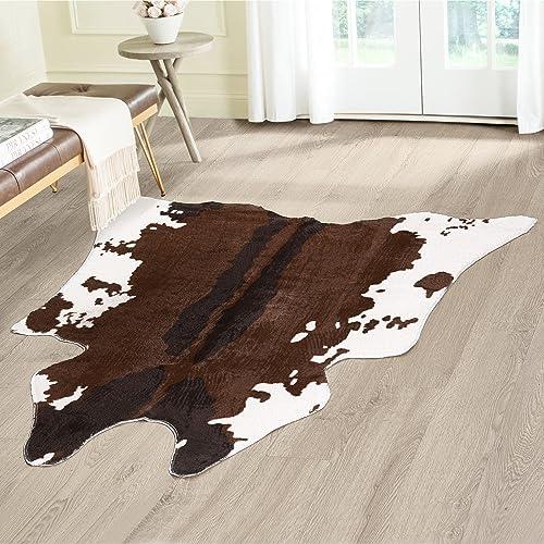 """Cowhide Animal Print Area Rug Measures 49"""" X 50"""""""