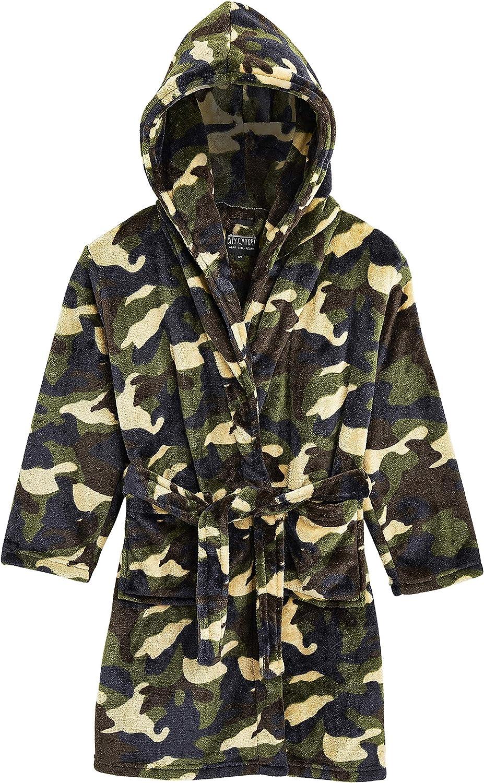 Vestaglia Calda Notte Bambino Invernale Camouflage Pail Morbidissimo CityComfort Vestaglia Bambina Pile Idea Regalo Bambini E Ragazzi Compleanno Ragazzo 5-14 Anni