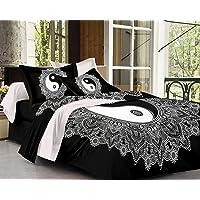 SheetKart Yin Yang Traditional Printed Cotton Bedsheet