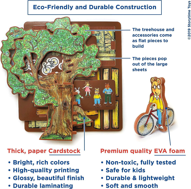 STORYTIME TOYS Arthurs Treehouse Toy Set and Book PBS Kids Toys; Take Apart STEAM Educational Toys