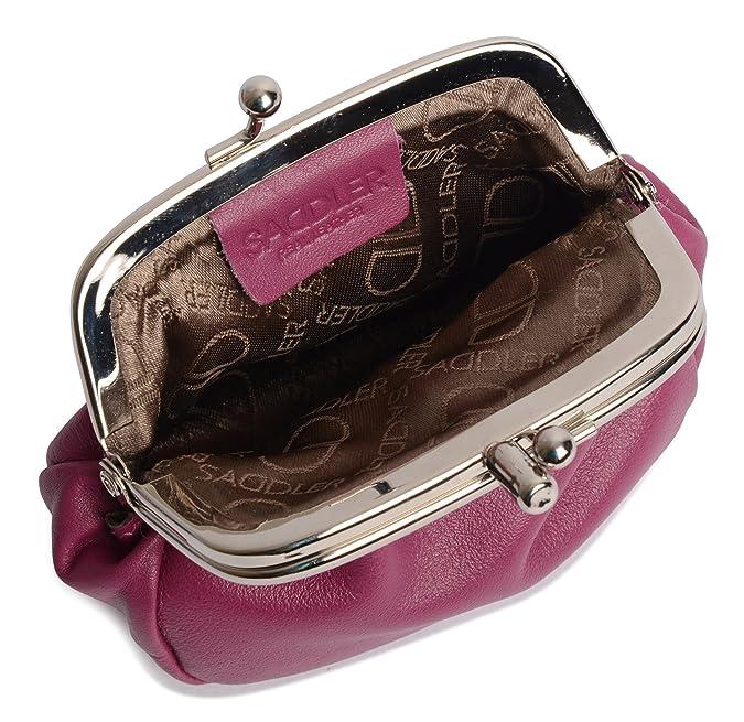 Saddler Lola Monedero de Piel de Doble Compartimento de 8 cm ...