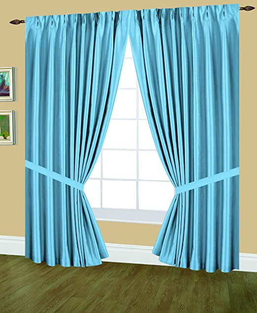 Editex Home Textiles Elaine Lined Pinch Pleated Window Curtain 48 by 95-Inch Gold
