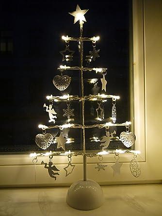 Tannenbaum Aus Blech.Khevga Weihnachtsbaum Aus Metall Mit Led Batteriebetrieben