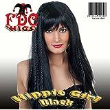 FDC 60S 70S Hippie Hippy Girl Lady Wig Black Brown Blonde - Black