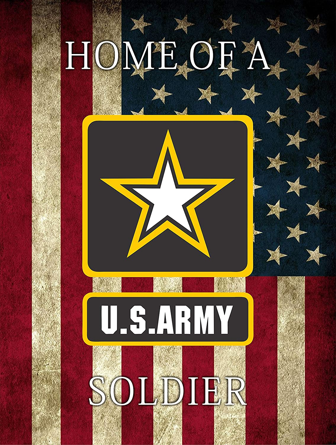 H2 Studio Home of US Army Flag Decal, US Flag Sticker for Door, Window and Gate of U.S. Soldiers' House, Decal to Welcome Home Banner Military, Army Birthday Party Supplies, Pack 2