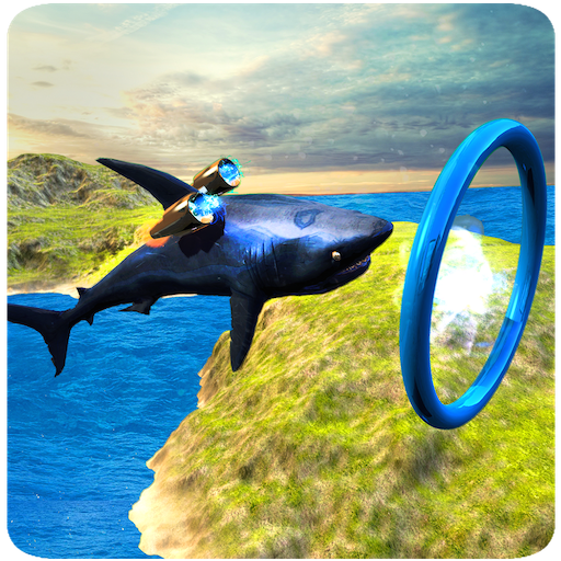 Flying Deadly Shark Attack Simulator 3D: Underwater Ocean Survival Adventure Games Free For Kids 2018 -