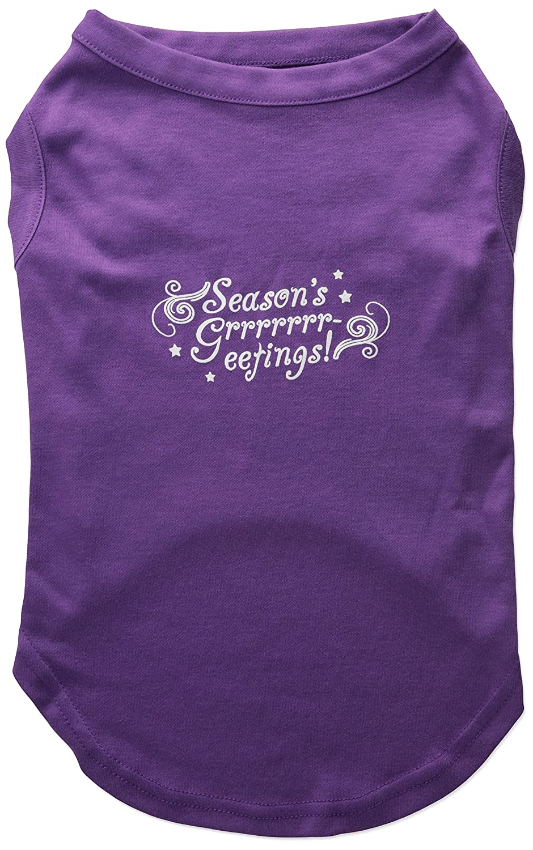 Dog / Cat / Pet Charms Seasons Salutes Screen Print Shirt Purple XL (16)