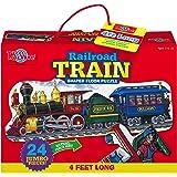 T.S. Shure Railroad Train Shaped Floor Puzzle