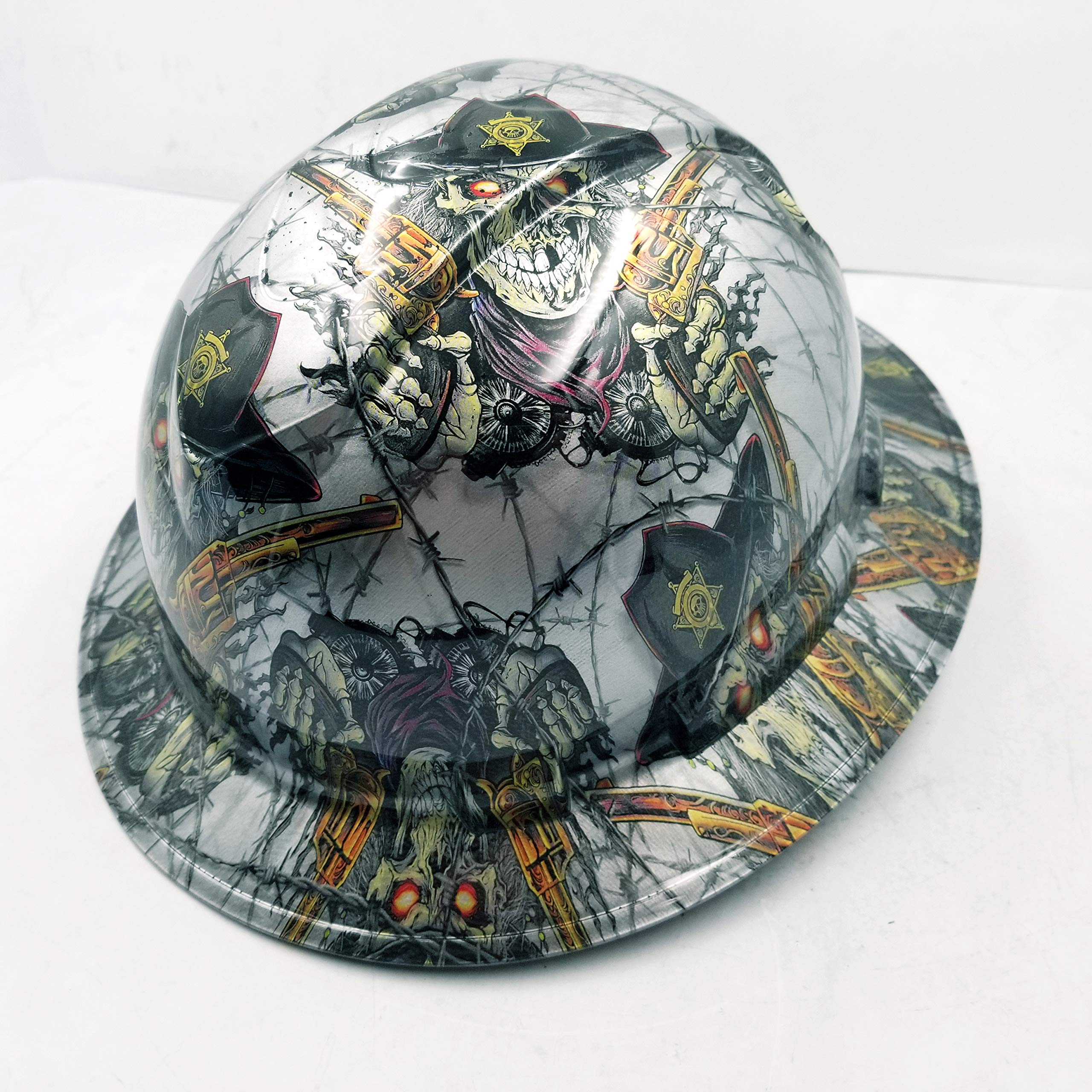 Wet Works Imaging Customized Pyramex Full Brim Dirty Dirty Harry Hard HAT with Ratcheting Suspension Custom LIDS Crazy Sick Construction PPE by Wet Works Imaging (Image #5)