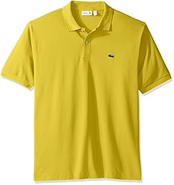 cc197c1f368 Lacoste Men s Short Sleeve Pique L.12.12 Original Fit Polo Shirt   Amazon.in  Clothing   Accessories