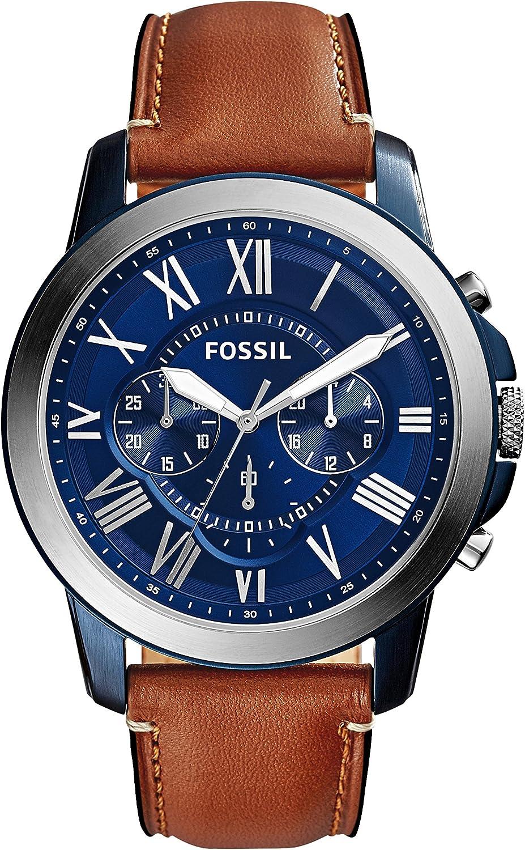 Fossil Reloj Cronógrafo para Hombre de Cuarzo con Correa en Piel FS5151