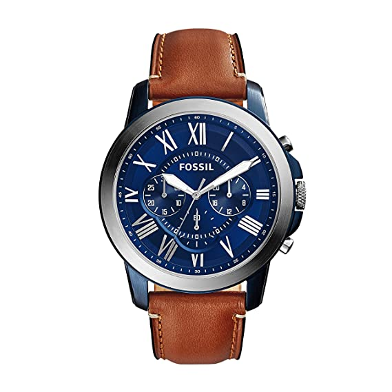 741d461f1b65 Buy Fossil Grant Chronograph Blue Dial Men s Watch - FS5151 Online at Low  Prices in India - Amazon.in