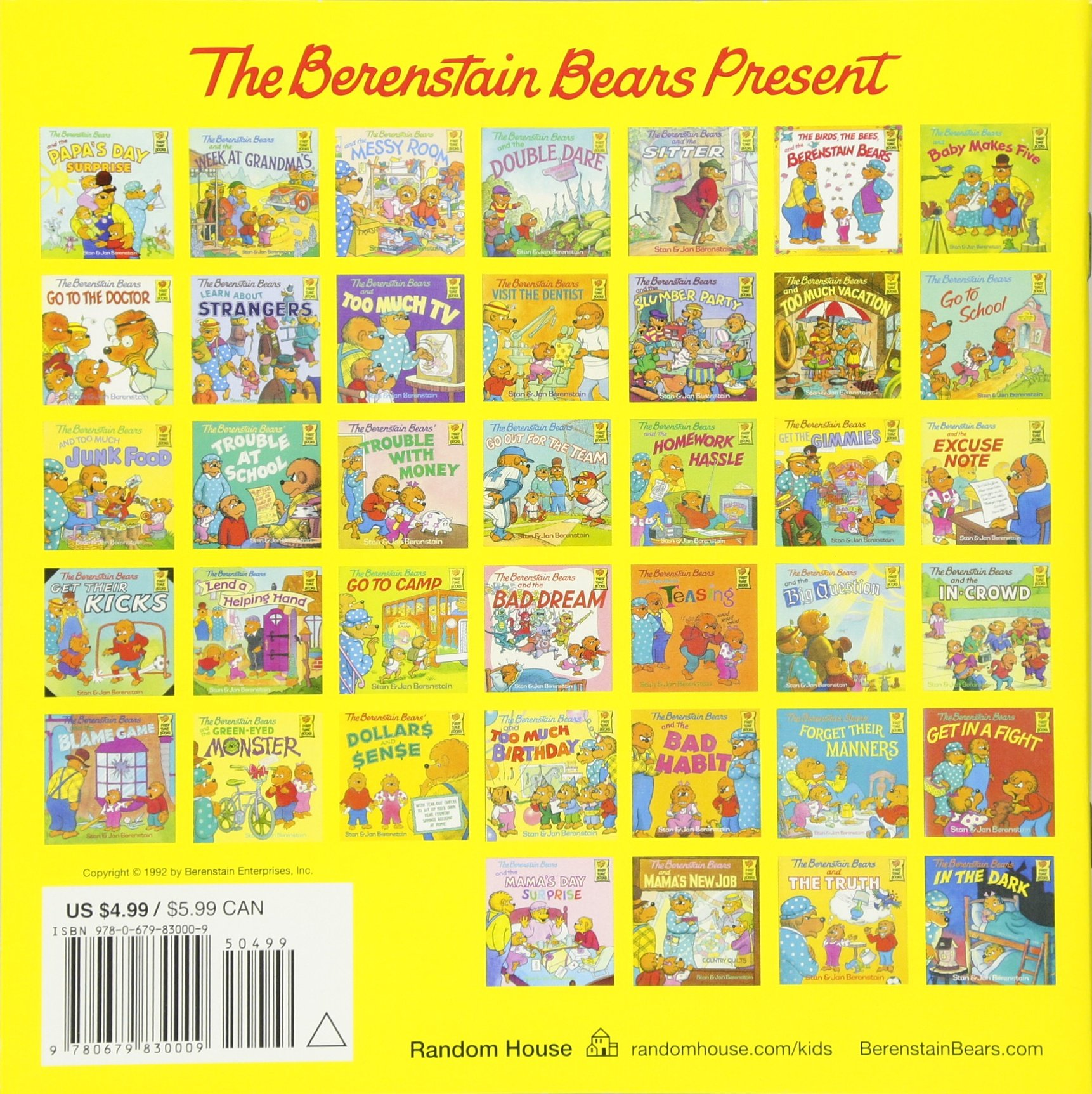 The berenstain bears and the trouble with grownups stan berenstain jan berenstain 9780679830009 amazon com books