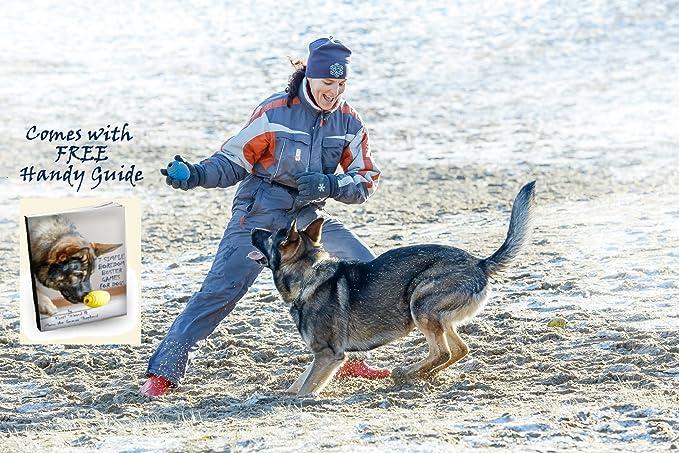 Dispensador de Comida PlayfulSpirit Pelota de Rugby de Recompensas para Cachorros y Perros Incre/íble Destructor del Aburrimiento de Mascota y Divertido Juguete de entrenamiento b/ásico para cachorros