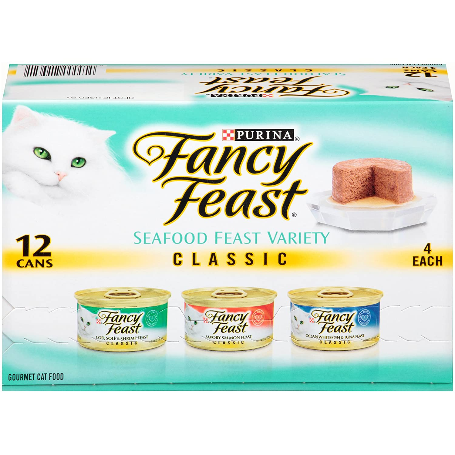 Fancy Feast Purina Classic Seafood Feast Variety Cat Food (Packaging may vary)