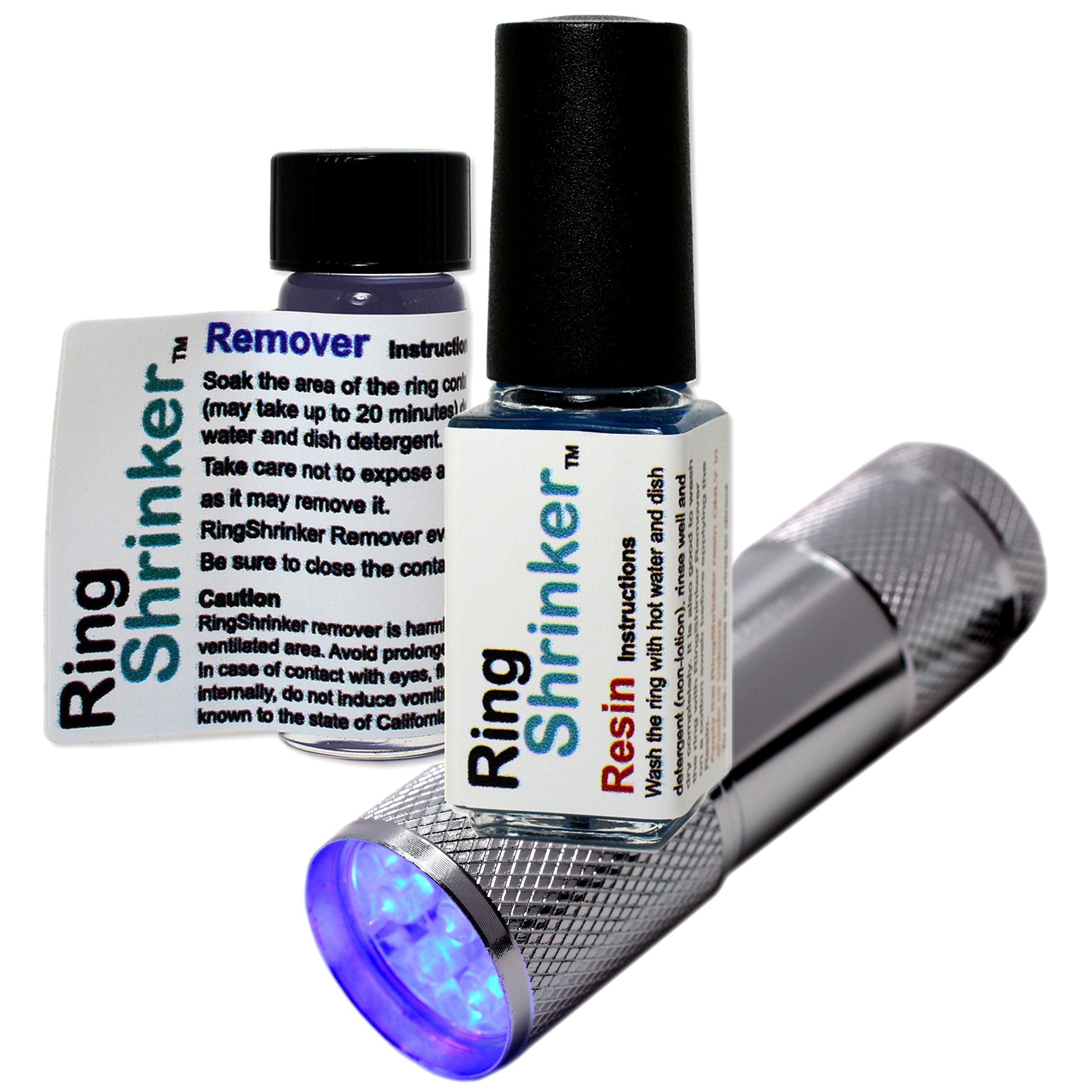 RingShrinker: Ring Size Adjuster, Ring Size Reducer, Ring Guard with UV Flashlight by RingShrinker