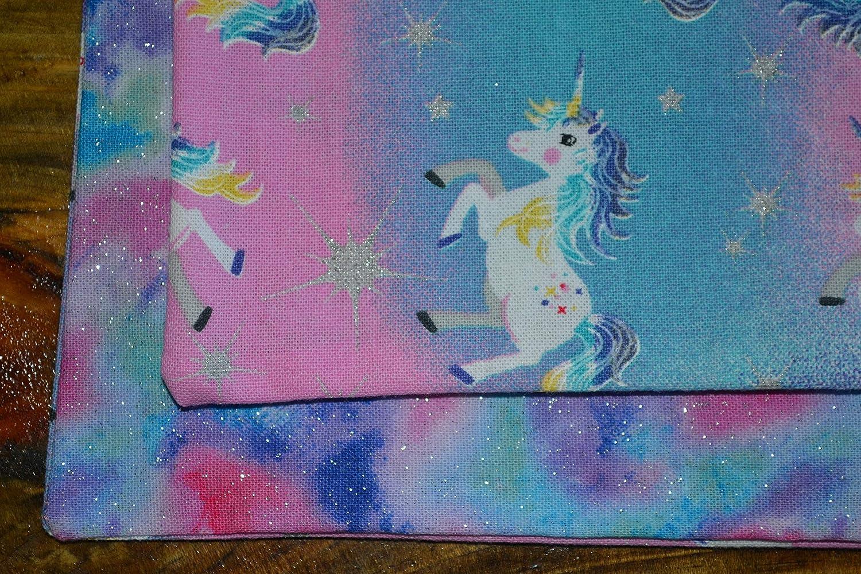 Bright Unicorn Reversible Cloth Napkins//Set of 4