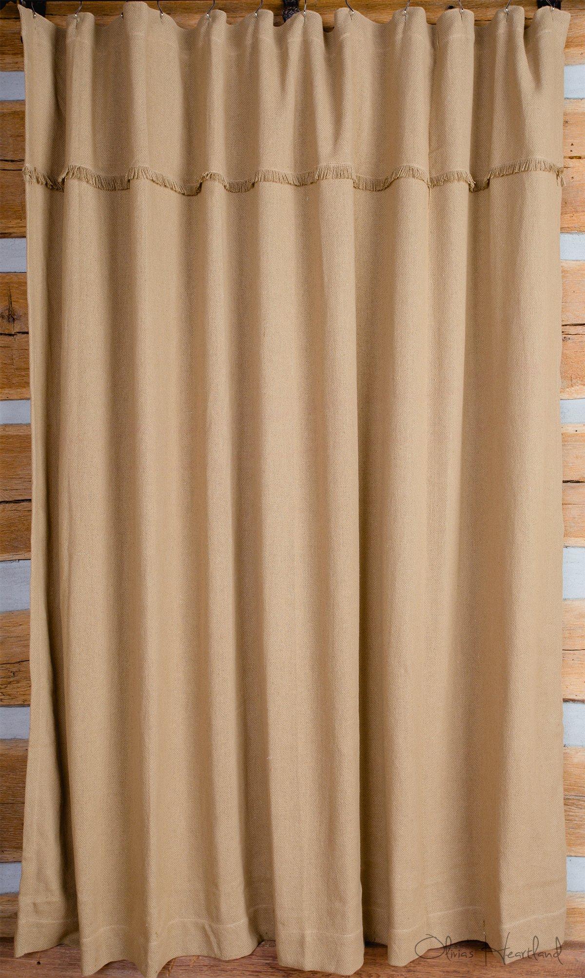 Deluxe Burlap Natural Tan Shower Curtain