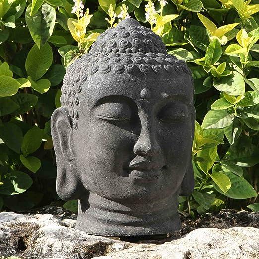 Estatuas de jardín grande - cabeza de Buda escultura de piedra: Amazon.es: Jardín