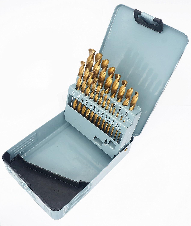 """Drillforce 6PCS 11//32/"""" Black Gold Drill Bits Set HSS Metal Woodworking Drill Bit"""
