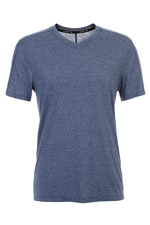 Layer 8 Mens Origin V Neck Quick Dry Performance T-Shirt