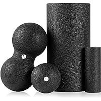 arteesol Fasciarol, pilatesrol, standaard ronde massagerol, 30/45 cm × 15 cm, schuimstofrol, trainingsrol, lang, zwart…