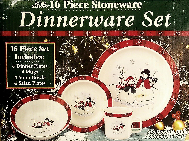 Replacement Royal Seasons Stoneware With Snowmen /& Snowflake Border