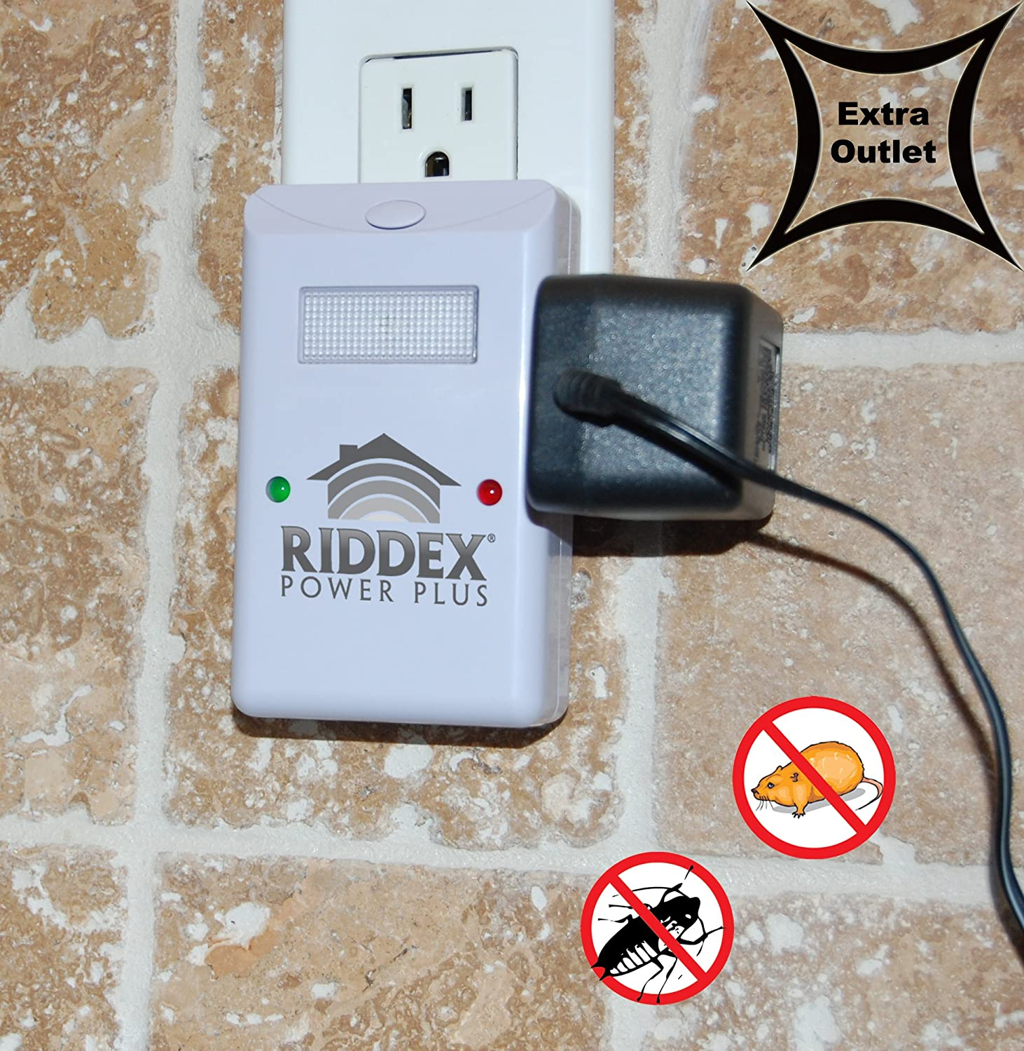 Amazon.com: Riddex Power Plus w/luz nocturna y Side Outlet ...