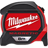 Milwaukee 48227308Hp8mg/27Premium Mag Mètre à ruban–Rouge/Noir
