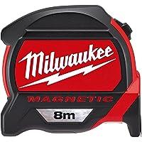 Milwaukee 48227308 Premium Mag Tape Measure HP8Mg/27, Red/Black